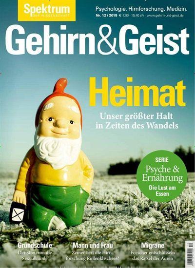 """Die aktuelle Ausgabe von Gehirn & Geist am 30.11. kostenlos herunterladen beim epaper Monday. Einfach auf """"Gutschein einlösen"""" drücken: https://www.united-kiosk.de/epaper+Monday+-+epaper-ebinr_2112445.html"""