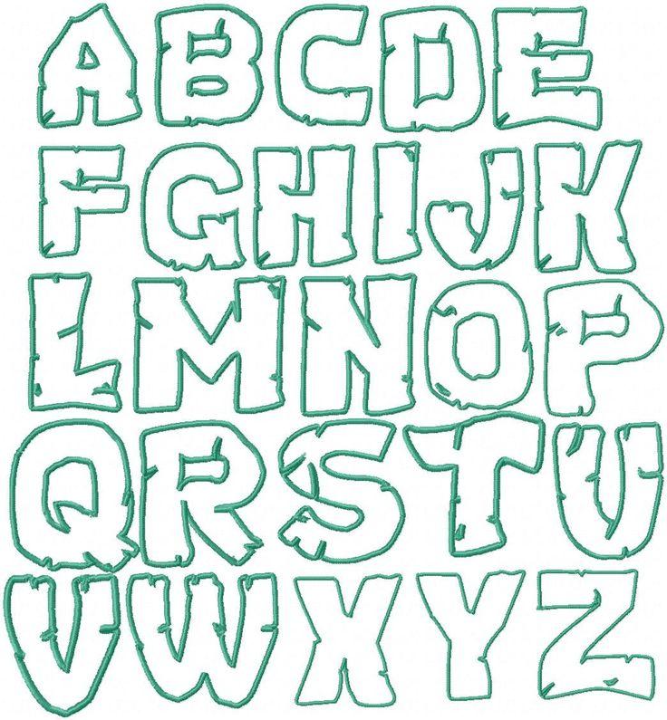 Teenage+Mutant+Ninja+Turtles+Embroidery+Font+by+HerringtonDesign,+$1.50