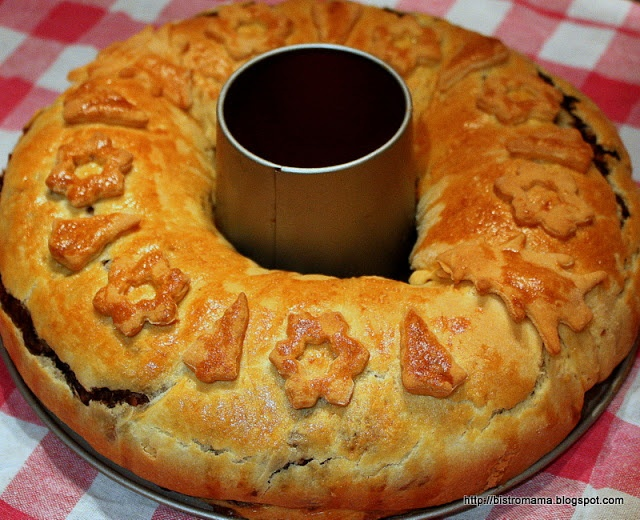 bistro mama: Świąteczny kulebiak z kaszą gryczaną i grzybami