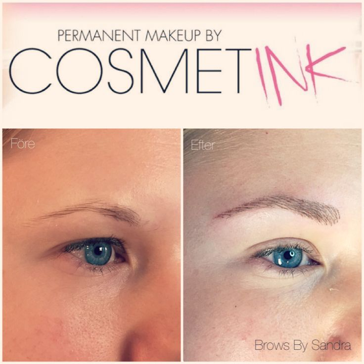 Tatuerade ögonbryn med 3D teknik. www.cosmetink.se