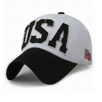 Hommes et femmes casual casquette de baseball USA tissu Apposé Brodé chapeau de mode casquettes drapeau 8 couleur 1 pcs