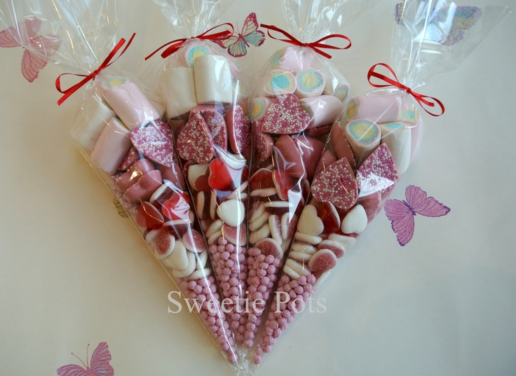 Put the sweets, dates and stuff in cones with a personalised label rather than bags