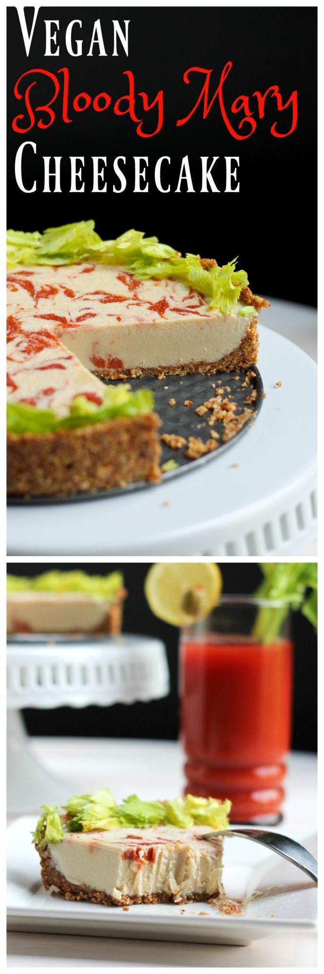 A totally unique and unexpected twist on cheesecake, is this Vegan Bloody Mary…