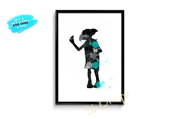Harry Potter Watercolor Print Dobby Watercolor Poster
