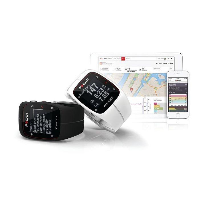 129€ Electronica Relojes, GPS, Podómetros - Reloj GPS M400 blanco POLAR - Relojes