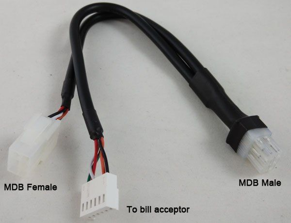 MDB harness cables for invoice acceptor coin validator in