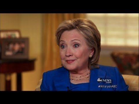 Hillary Clinton Interview with Diane Sawyer • 9 June 2014 https://www.youtube.com/watch?v=GdTtvXxLyY0