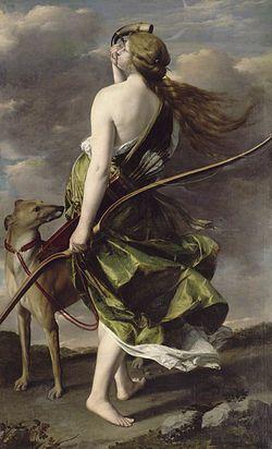 Diana the Huntress, Orazio Gentileschi