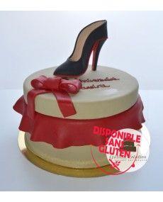 Gâteau boite à chaussure et escarpin Louboutin