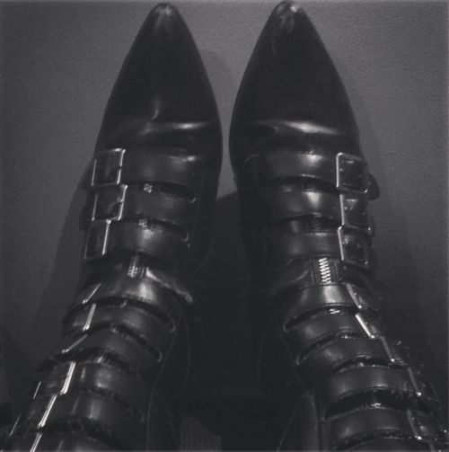 80's goth / buckles upon buckles / amazing boots!- Used to have a pair... and wore them into the ground.