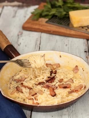 Low Carb Carbonara - Learn more in the Slendier Information Centre. Recipes, articles and videos for a healthy lifestyle.