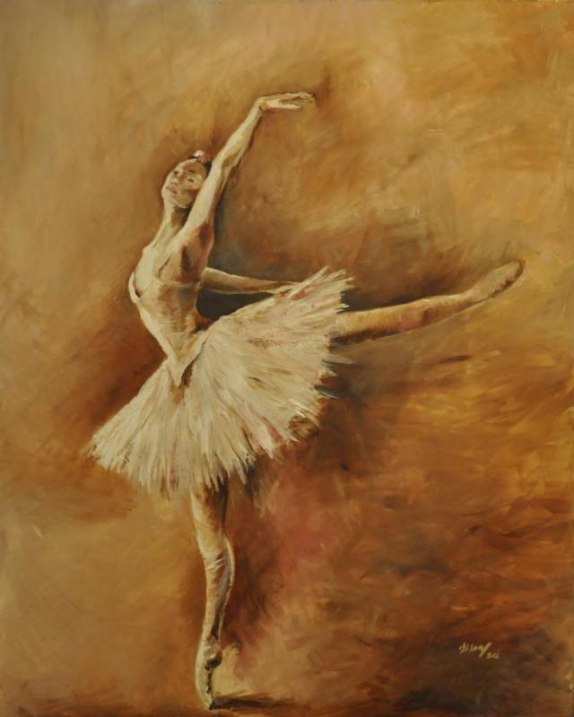 Ballerina 100x80 cm acryl, canvas 2012, SOLD