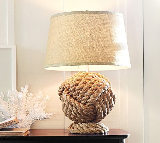 rope knot table lamp base rope knots lamp bases and ropes. Black Bedroom Furniture Sets. Home Design Ideas