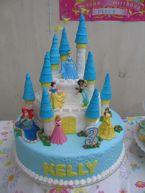 Well would you look at that.... a Disney Princess castle cake with my name on it haha
