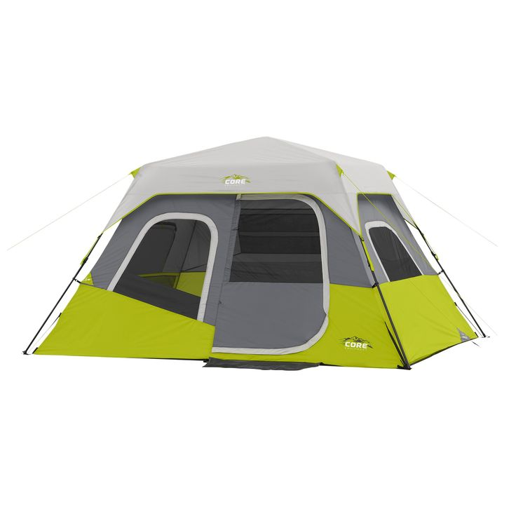 Core 6 Person Instant Cabin Tent In 2021 Family Tent Camping Best Tents For Camping Cabin Tent
