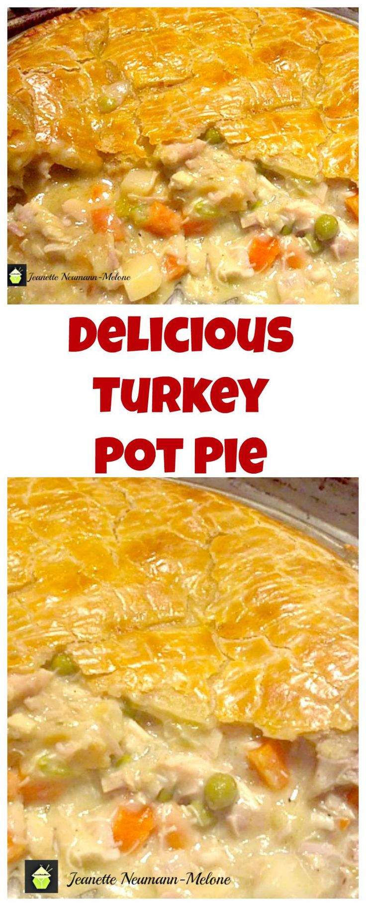 DELICIOUS Turkey Pot Pie, Look at that pie crust!  I would also make this using chicken and ham together (great combo!) Oh my! Plus perfect for using up left over turkey! | Lovefoodies.com