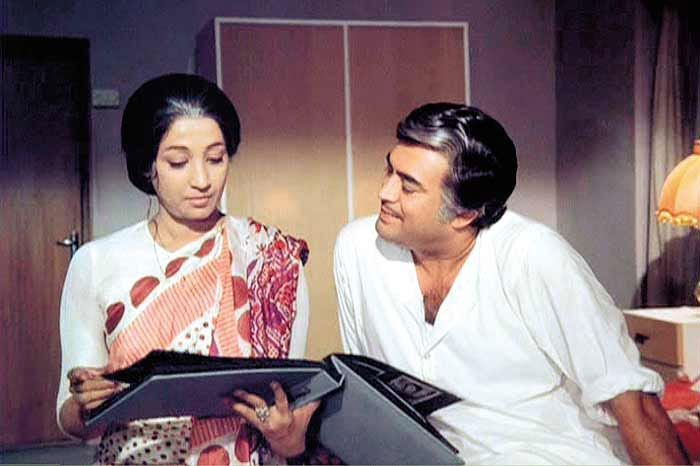 A still from the 1975 film Aandhi directed by Gulzar, starring Sanjeev Kumar and Suchitra Sen. The film was loosely based on the life of former prime minister Indira Gandhi.