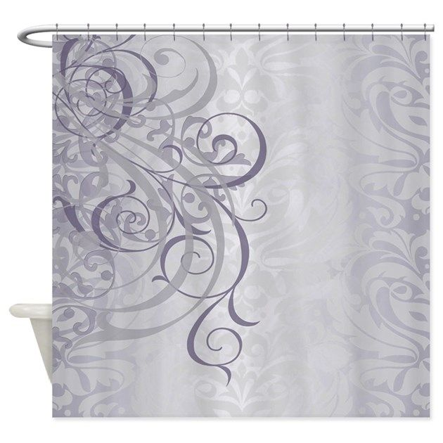 Vintage Rococo Gray Shower Curtain By Theinspirededge Cafepress Purple Shower Curtain Shower Curtain Decor Shower Curtain
