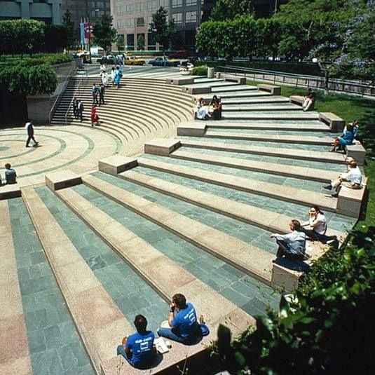 Stepped urban space landscape steps level change for Garden design vs landscape architecture