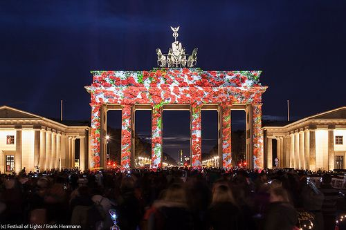 "Brandenburger Tor /// Brandenburg Gate @ Berlin FESTIVAL OF LIGHTS 2013. 3D Videomapping ""City Life - City Lights"". Presented by German Wings. Produced by Zander & Partner Event-Marketing (c) Festival of Lights / Frank Herrmann #Berlin #FestivalofLights #BrandenburgerTor #BrandenburgGate #3DMapping"