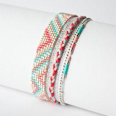 Manchette brésilienne / tissé perles miyuki / bracelet bresilien /