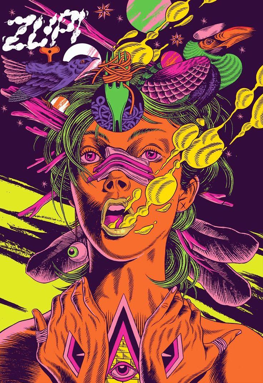 Je vous propose de découvrir les superbes illustrations deBicicleta Sem Freio(la bicyclette sans frein), un collectif brésilien formé par trois illustrat