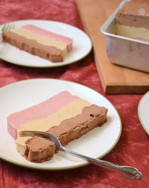 #Vegan Layered Neapolitan Ice Cream Cake. So cool it's frozen!Vegan Layered, Layered Neapolitan, Vegan Ice Cream, Ice Cream Cakes, Neopolitan Ice, Neapolitan Ice, Vegan Neapolitan, Icecream, Frozen Banana