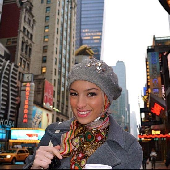 How to Wear Hijab with Hat  90d6879b1e0b3d1ab7329ab01a020fb5