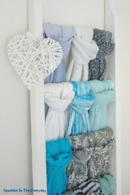 DIY Scarf Storage...Step by Step! - Sparkles in the Everyday!