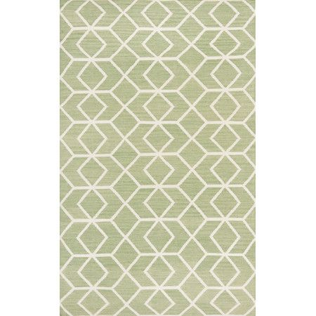 Define space in the den or refresh your entryway with this hand-woven rug, featuring an eye-catching geometric pattern in sage and ivory.  ...