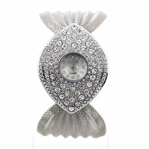 MP Women's Vintage Rhinestone Watch 050231 Color Silver XDP 0617