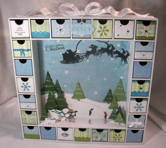 Snowy Christmas Advent Calendar by anitawill1 - Cards and Paper Crafts at Splitcoaststampers
