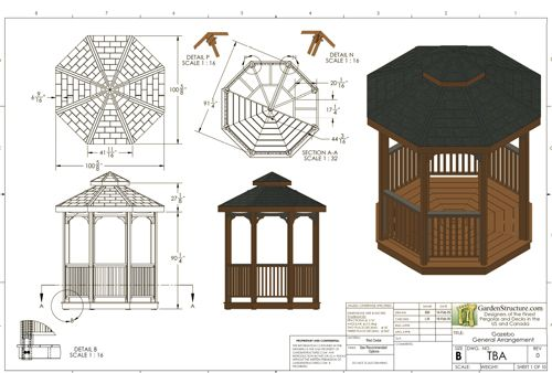 56 best images about gazebo on pinterest how to build for Gazebo house plans