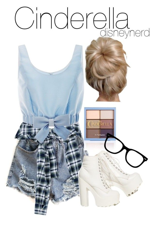 """Hipster Cinderella Disneybound"" by kfj16 ❤ liked on Polyvore featuring Faith Connexion, Honor and Disney"