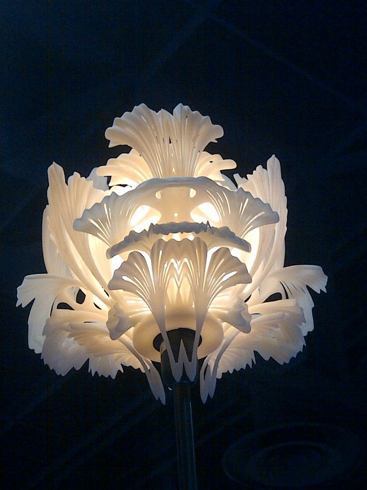 3D printed lamp on Farsoon booth at Rapid 2015
