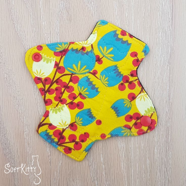 Organic Cotton Panty Liner. Soft Kitty Cloth Menstrual Pads.
