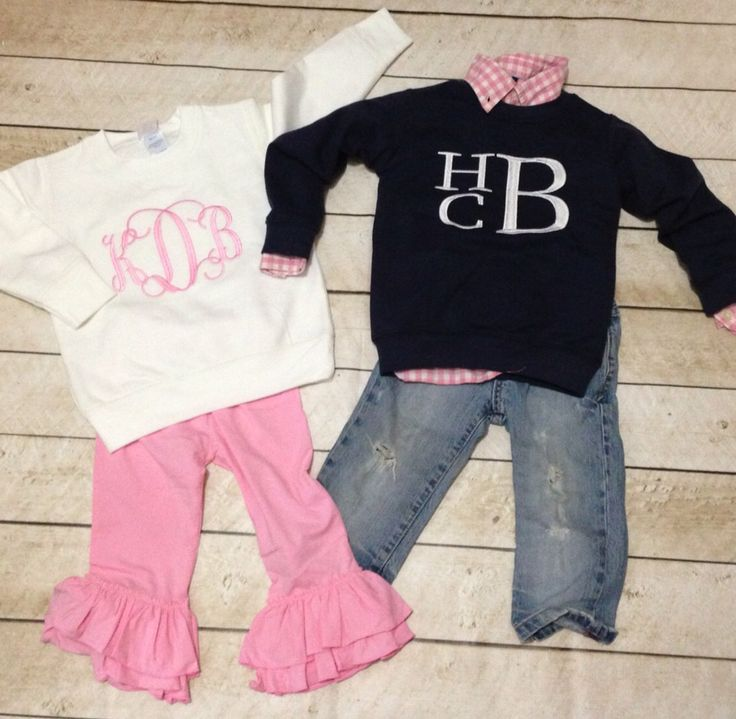 Monogrammed toddler sweatshirt , personalized baby sweater, boy, girl, picture outfit, preppy by skkilby21 on Etsy https://www.etsy.com/listing/207407163/monogrammed-toddler-sweatshirt