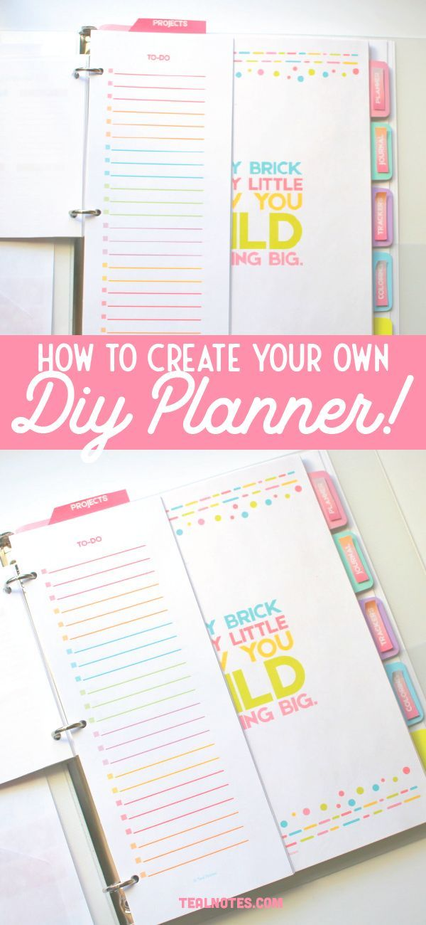 Diy Planner How To Make A Diy Printable Planner With Templates 2021 In 2020 Create Your Own Planner Diy Planner Printable Planner