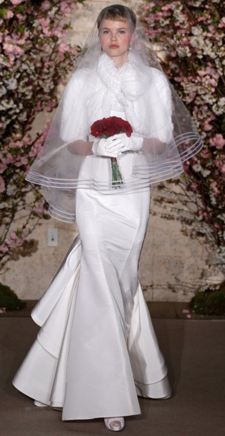101 best trumpet wedding gowns images on pinterest short wedding silk princess seam trumpet wedding gown by oscar de la renta ombrellifo Image collections