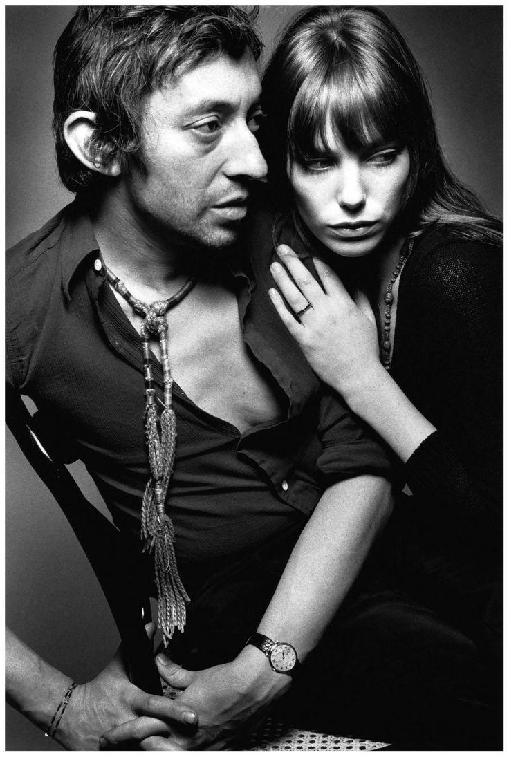 Jeanloup Sieff - Jane Birkin and Serge Gainsbourg, Paris, 1970pst