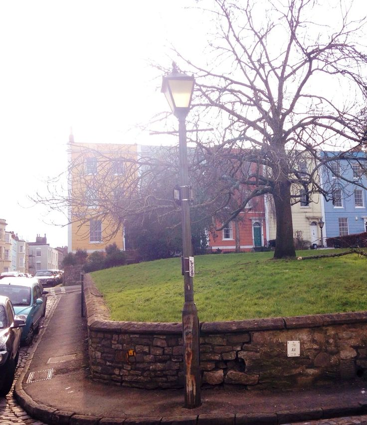 Square of colourful houses in Kingsdown Bristol