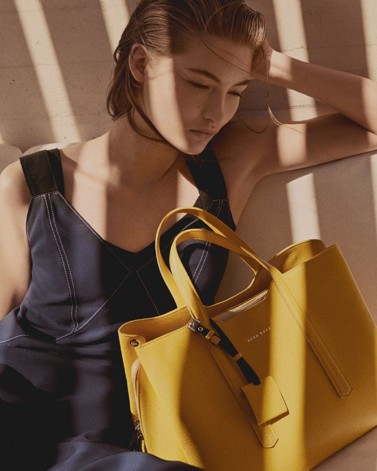 Lighten up: add a shot of bright color to your look with this grainy leather bag in summer yellow #SummerOfEase