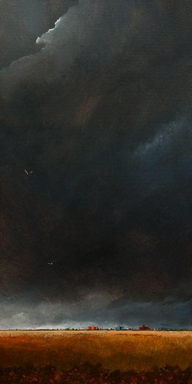 The Darkened Sky No. 2. 15 x 30. acrylic. By Mark Fletcher