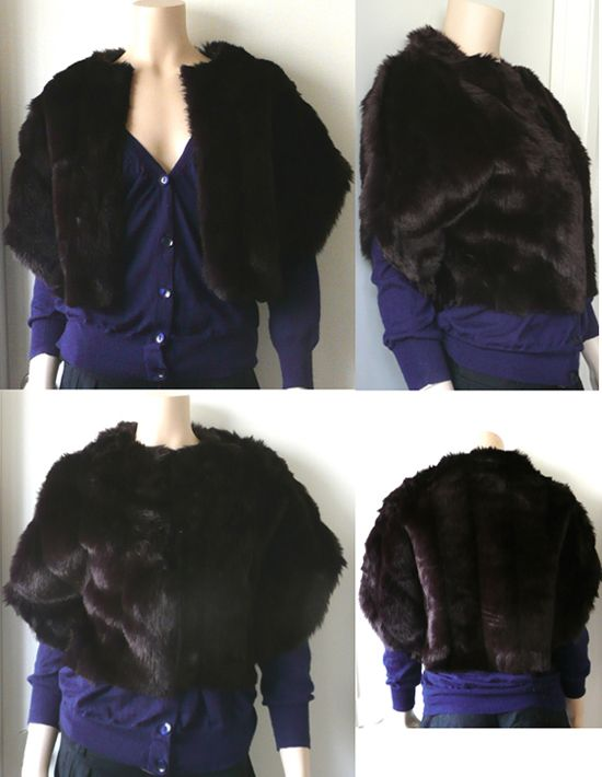 Faux Fur Shrug Tutorial (since I have to tackle at least ONE fur project fearlessly :P)