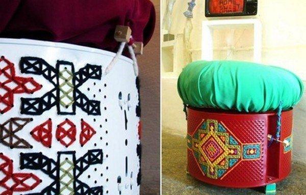 Пуфы из стиральных машин(подборка)