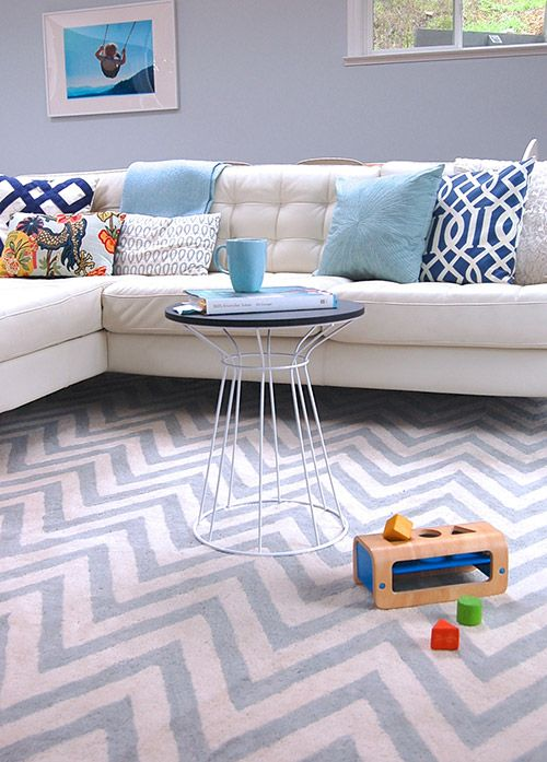 Loving this white leather couch! Living With Kids: Michelle Turchini