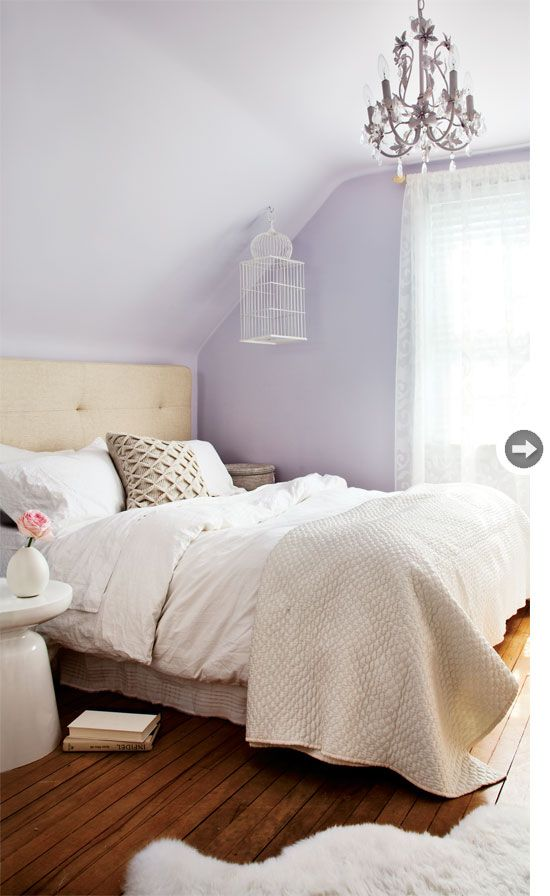 Interior Vintage white home Lavender Girls BedroomsLavender