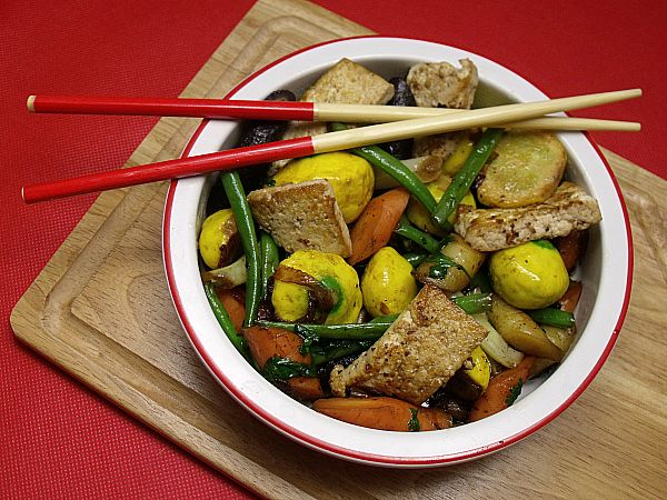 Vegetarian Tofu Stir Fry | Recipes I want to try out! | Pinterest