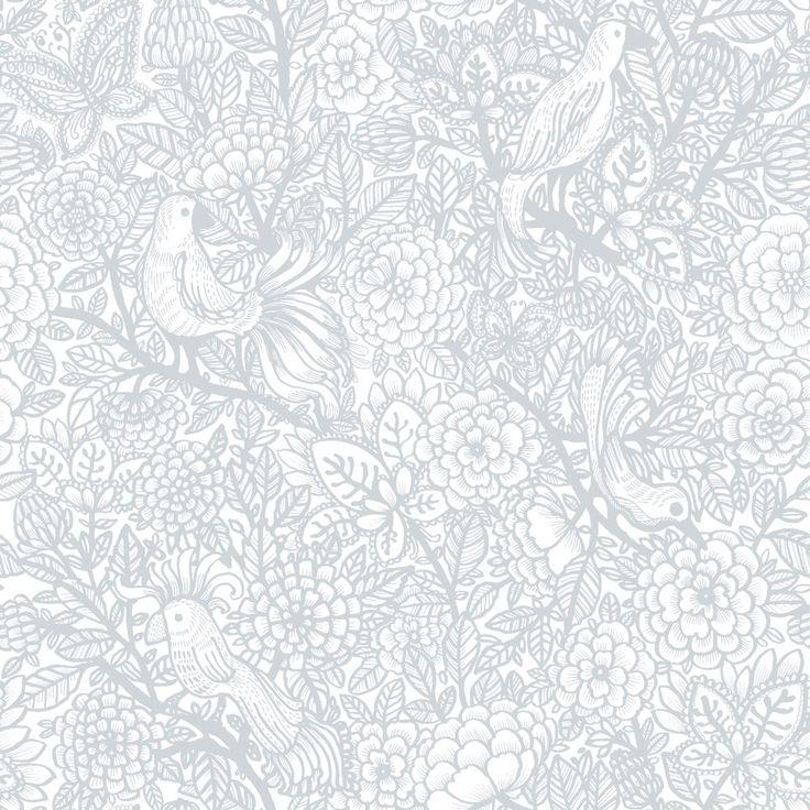 Vallila Garambola Grey Wallpaper main image
