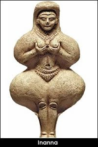 the Sumerian goddess of sexual love, fertility, and warfare